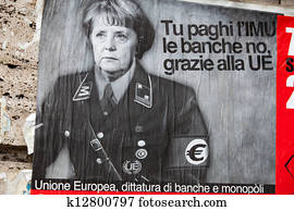 the poster on one of walls in Rome
