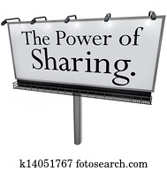 The Power of Sharing Billboard Message Donate Give Help Others