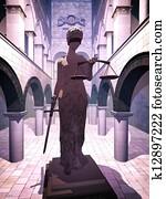 Themis the Justice symbol