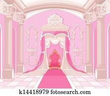 Throne room of magic castle