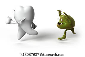 Tooth and bacteria