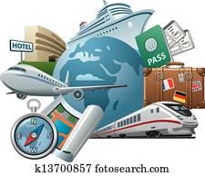 Travel concept icon