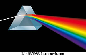 Triangular Prism Spectral Colors