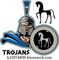 trojan with shield