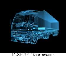 Truck (3D xray blue transparent)
