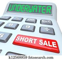Underwater Short Sale Words on Calculator
