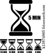 Vector sand glass timer