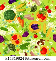 Vegetable seamless texture
