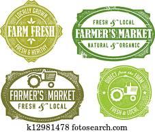 Vintage Farmers Market Signs