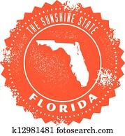 Vintage Florida State Stamp
