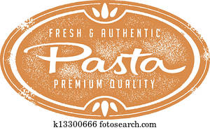 Vintage Fresh Pasta Stamp