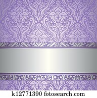 violet and silver luxury vintage wa
