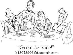 Waiters do a great job