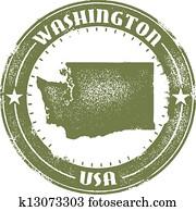 washington staat, briefmarke