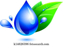 water drop and leaf