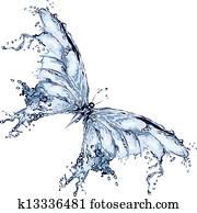 Water splash butterfly