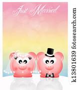 Wedding pig