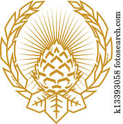 weizen, und, huepfen, gewürznelke, emblem