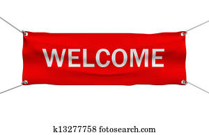 Welcome message banner