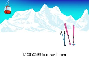 Winter extreme sports skiing rest