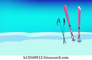 Winter sports skiing rest