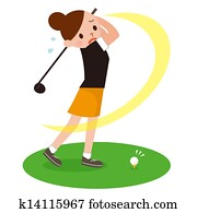 Woman to play the Golf