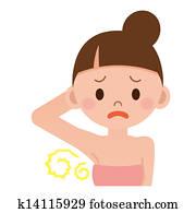 Women worry about body odor