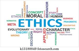 word cloud - ethics
