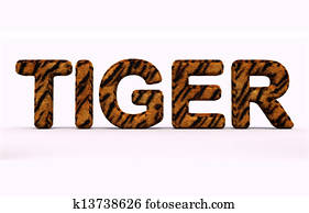 word tiger fur alphabet.