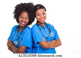 young african nurses