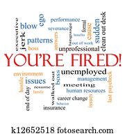 You're Fired Word Cloud Concept