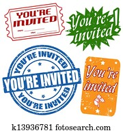 You're invited stamps