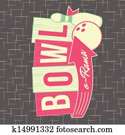 1950s Bowling Style Logo Design