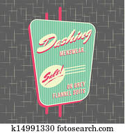 1950s Storefront Style Logo Design
