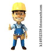 3d handyman normal thumb up