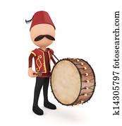 3D Traditional Ramadan Drummer