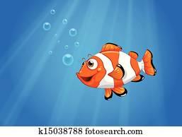 A sea with a nemo fish