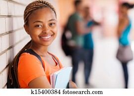 african american university student closeup
