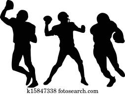 american football players silhouett
