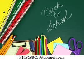 Back to School Items With Copy Space