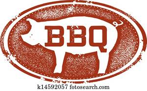 BBQ Pork Menu Design