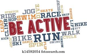Be Active Word Cloud Collage