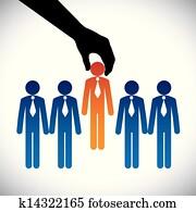 begriff, vektor, graphic-, hiring(selecting), dass, am besten, arbeit, candidate., dass, grafik, shows, firma, machen, a, wahlm?glichkeit, von, person, mit, recht, f?higkeiten, für, dass, arbeit, unter, viele, kandidaten, konkurrieren, für, dass, gleich, post