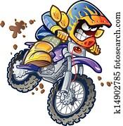 BMX Dirt Bike Rider