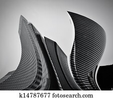 Business skyscrapers abstract conceptual architecture