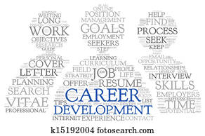 Career development in word tag cloud