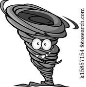 Cartoon hurricane