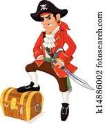Cartoon pirate