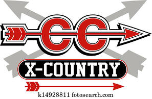 cross country logo with arrows