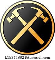 crossed hammer symbol